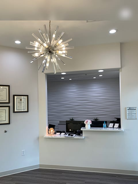 Essential Endodontics Little Elm - reception area
