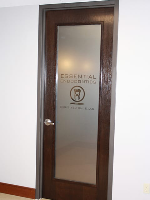 Essential Endodontics Fort Worth - Glass Door